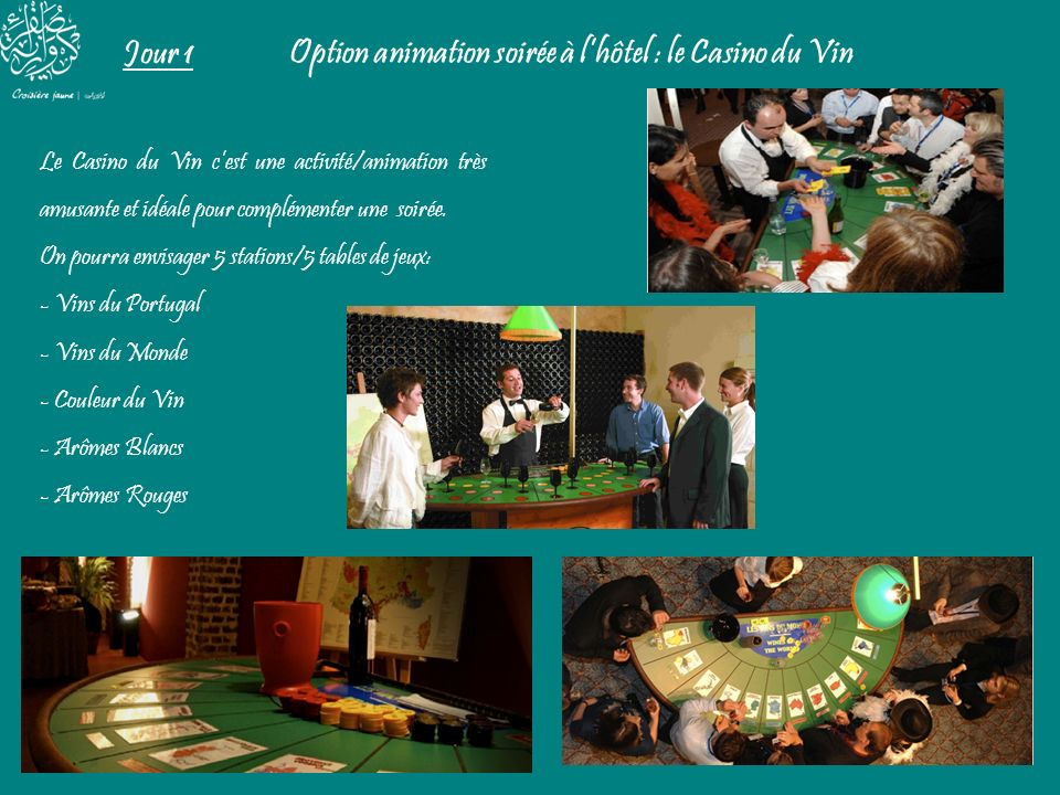 Option animation soirée à l'hôtel : le Casino du Vin