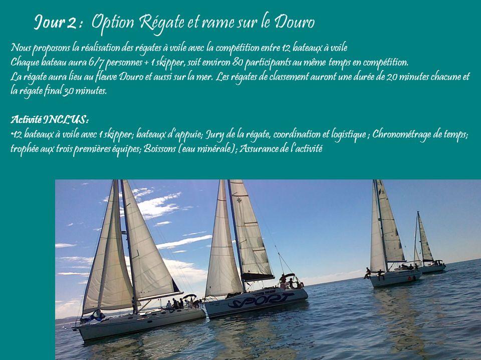 Jour 2 : Option Régate et rame sur le Douro