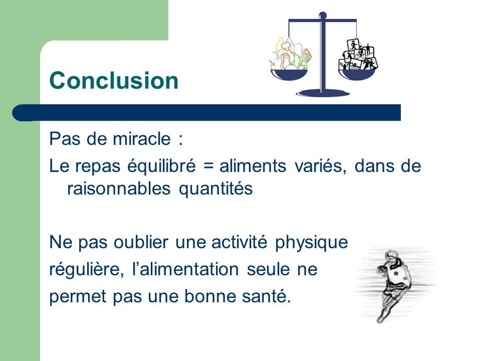 Conclusion Pas de miracle :