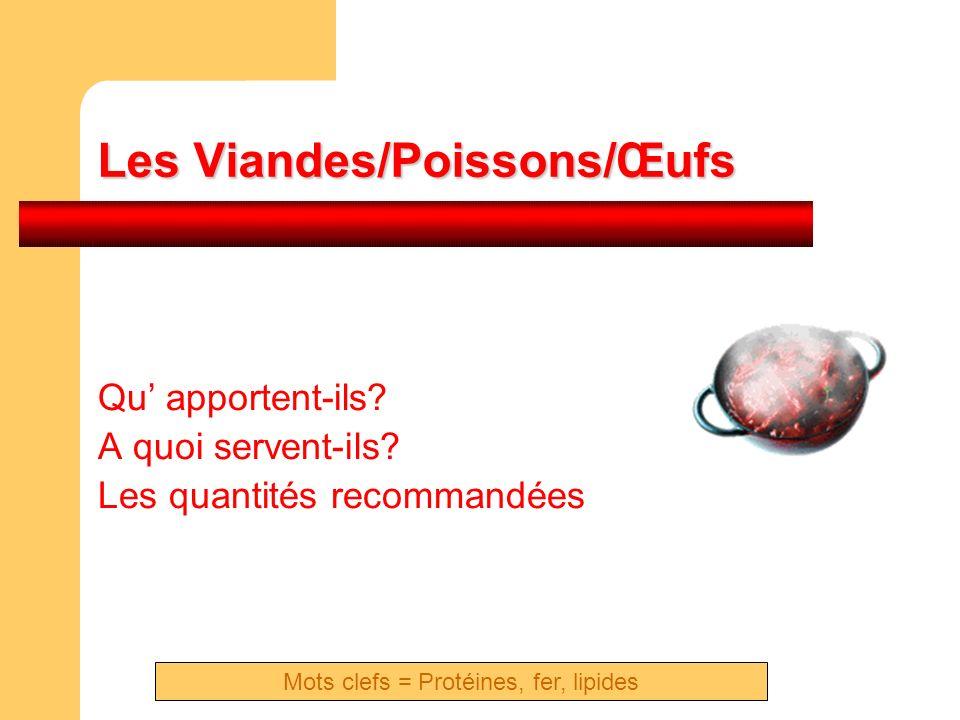 Les Viandes/Poissons/Œufs