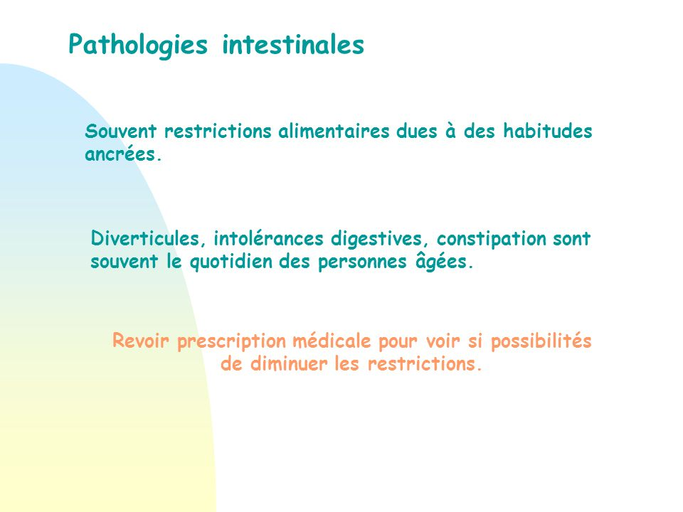 Pathologies intestinales