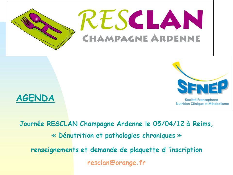 AGENDA Journée RESCLAN Champagne Ardenne le 05/04/12 à Reims,