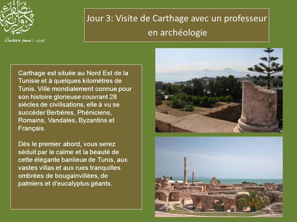 Jour 3: Visite de Carthage avec un professeur