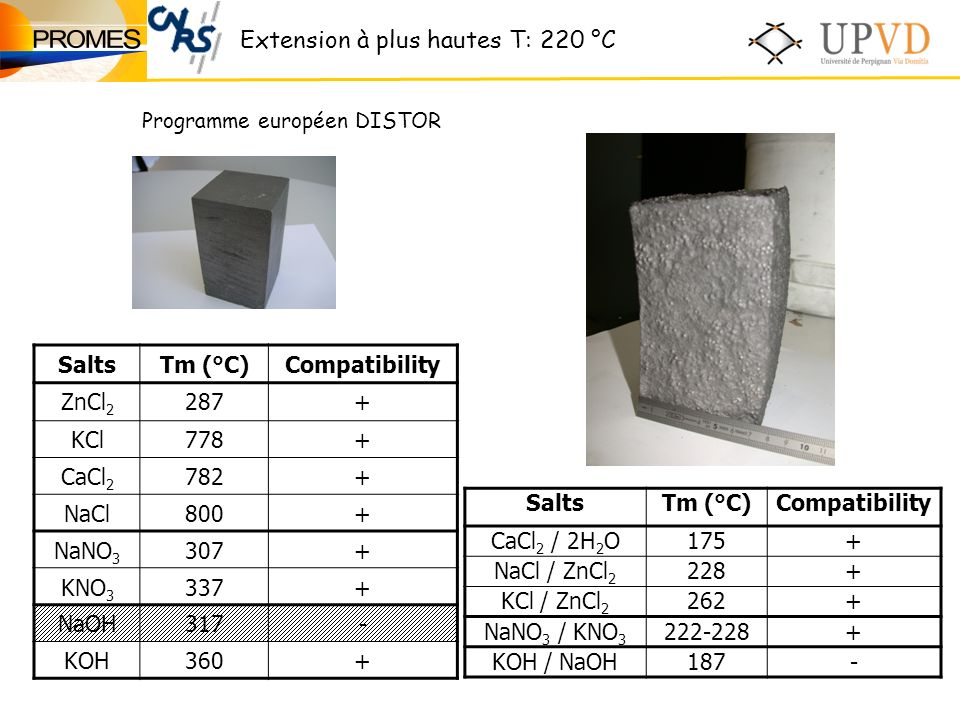 Extension à plus hautes T: 220 °C