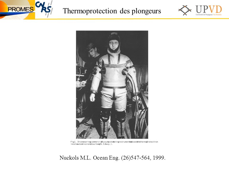 Thermoprotection des plongeurs