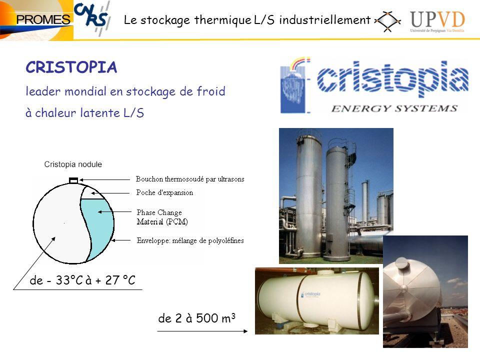 CRISTOPIA Le stockage thermique L/S industriellement