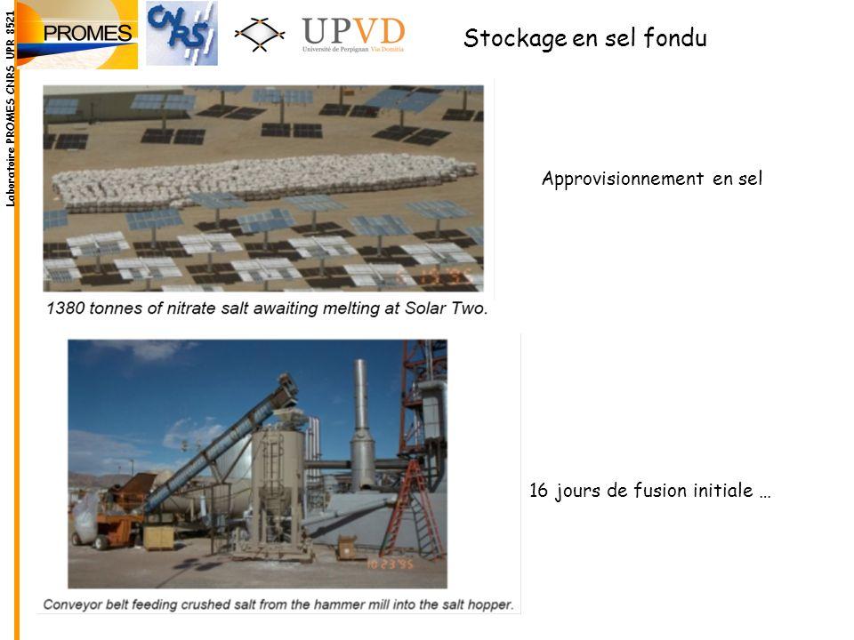 Stockage en sel fondu Approvisionnement en sel