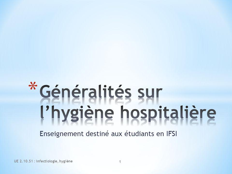 Généralités sur l'hygiène hospitalière