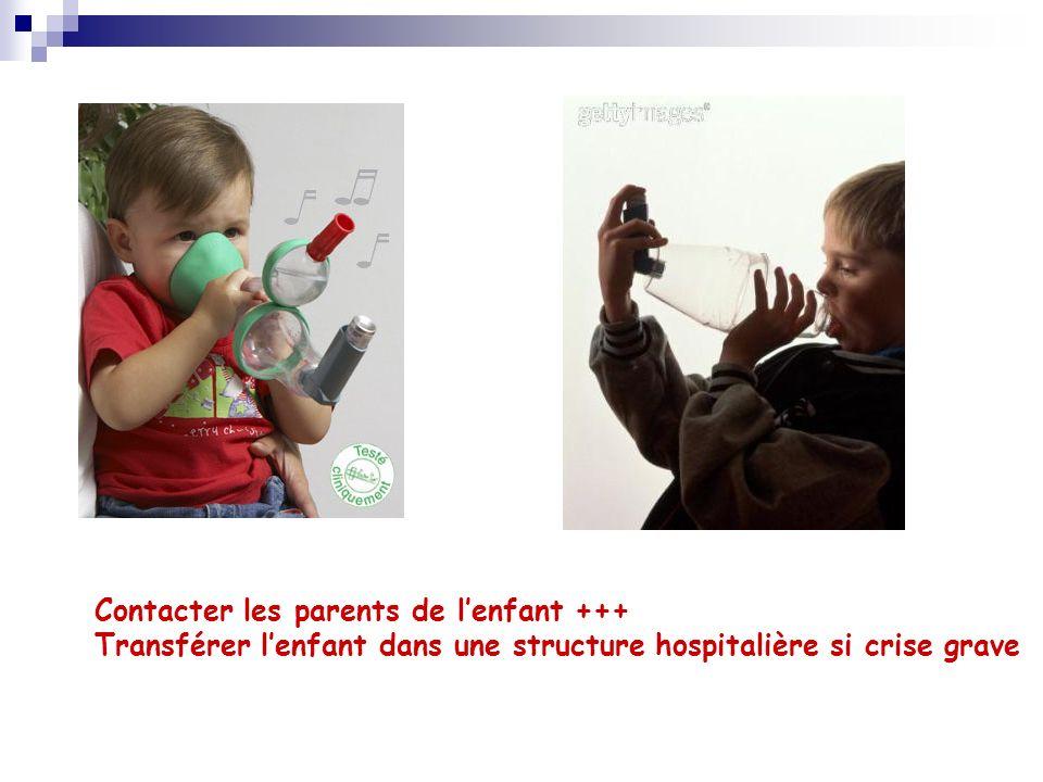 Contacter les parents de l'enfant +++