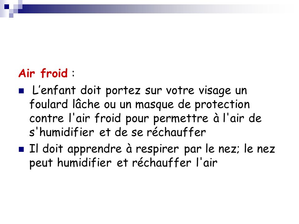 Air froid :