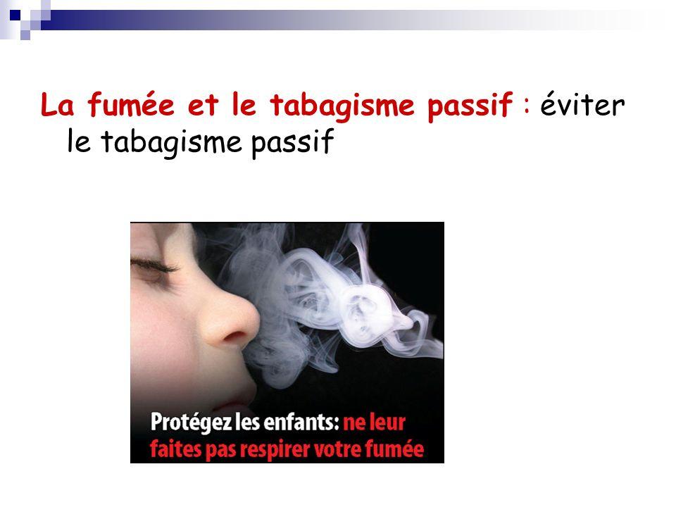 La fumée et le tabagisme passif : éviter le tabagisme passif