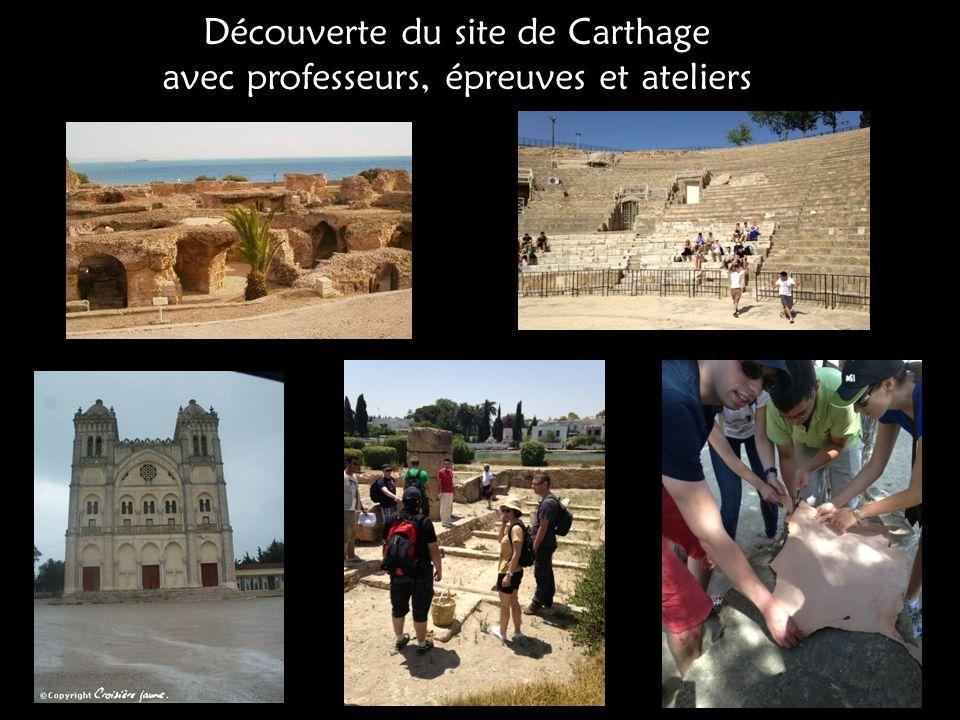 Découverte du site de Carthage avec professeurs, épreuves et ateliers