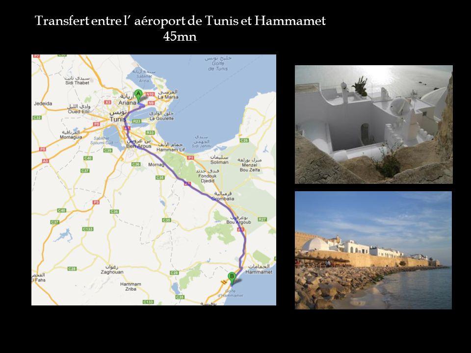 Transfert entre l' aéroport de Tunis et Hammamet