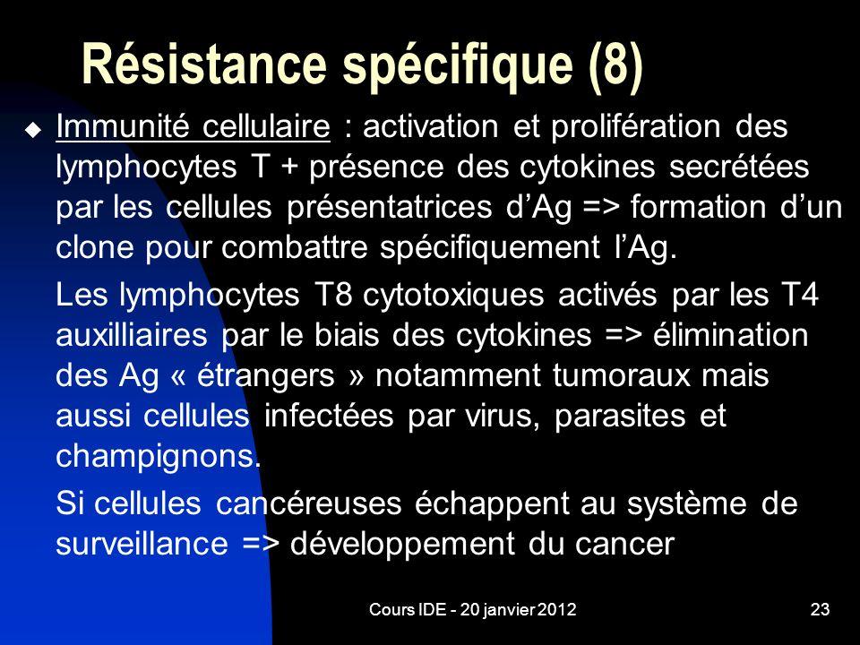 Résistance spécifique (8)