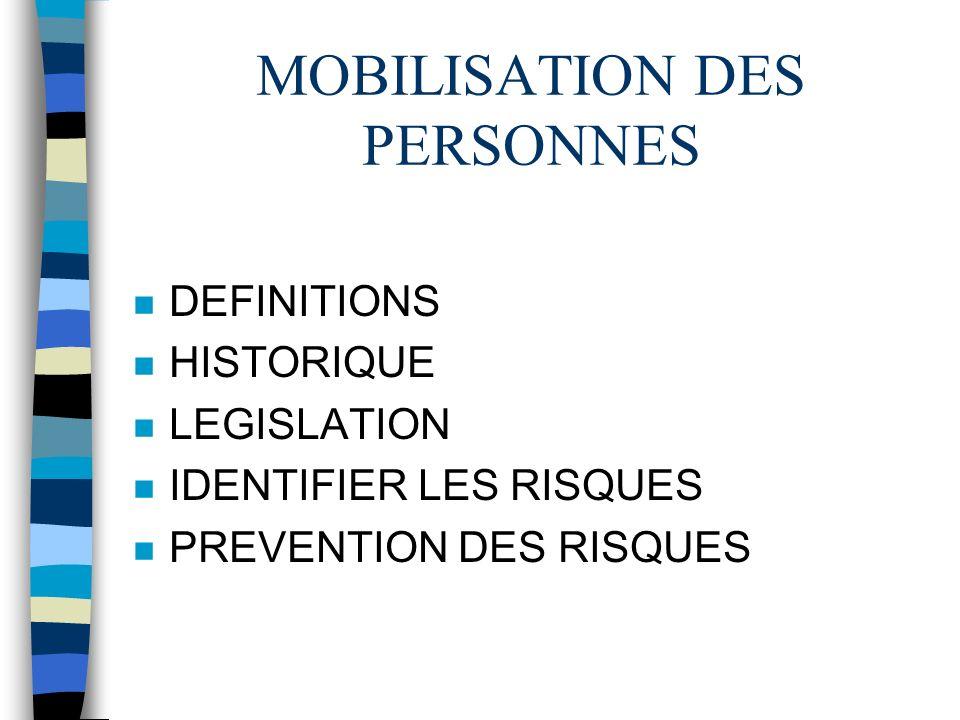MOBILISATION DES PERSONNES