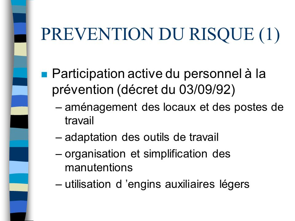 PREVENTION DU RISQUE (1)