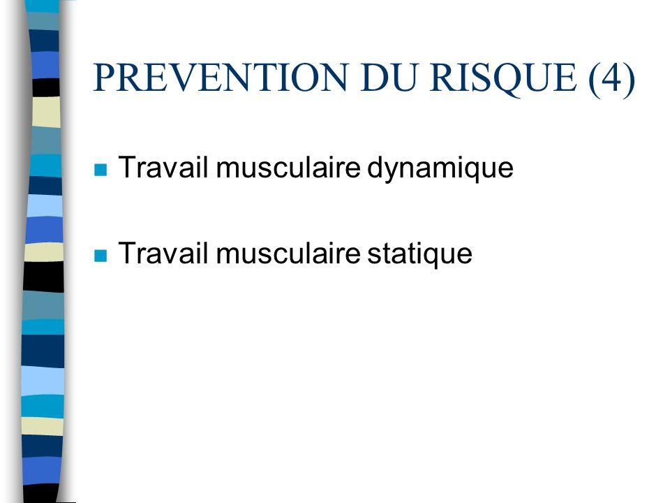 PREVENTION DU RISQUE (4)