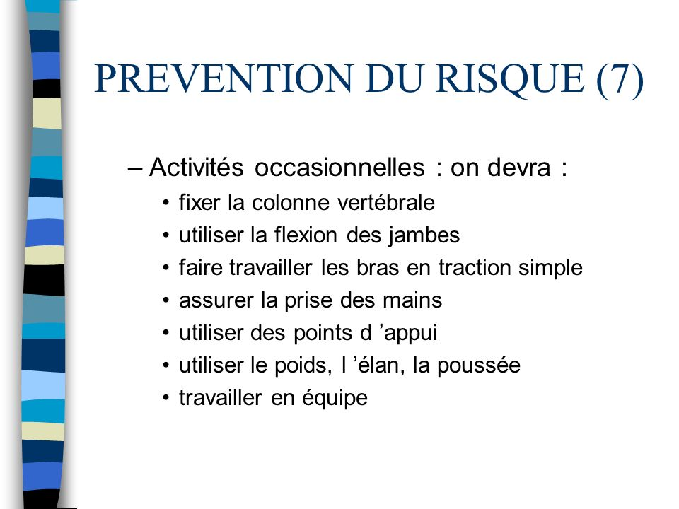 PREVENTION DU RISQUE (7)