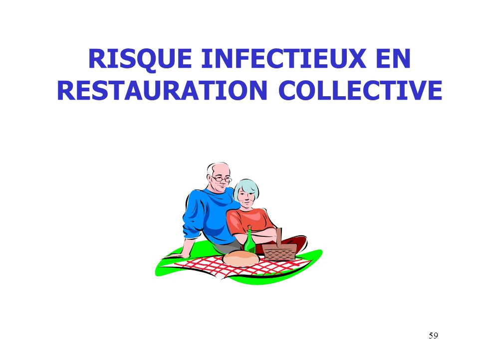RISQUE INFECTIEUX EN RESTAURATION COLLECTIVE