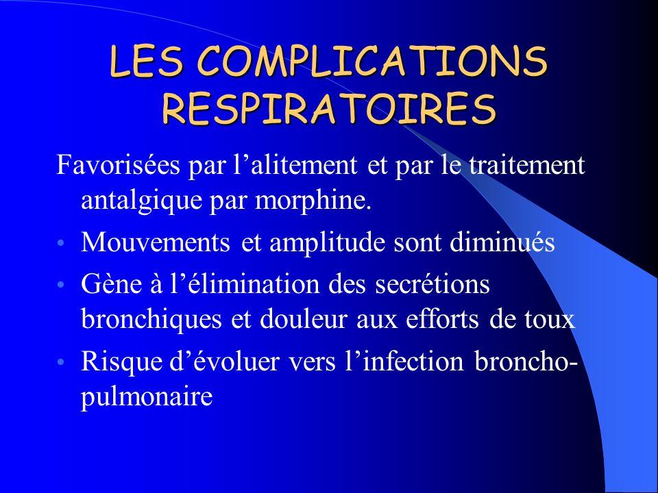 LES COMPLICATIONS RESPIRATOIRES