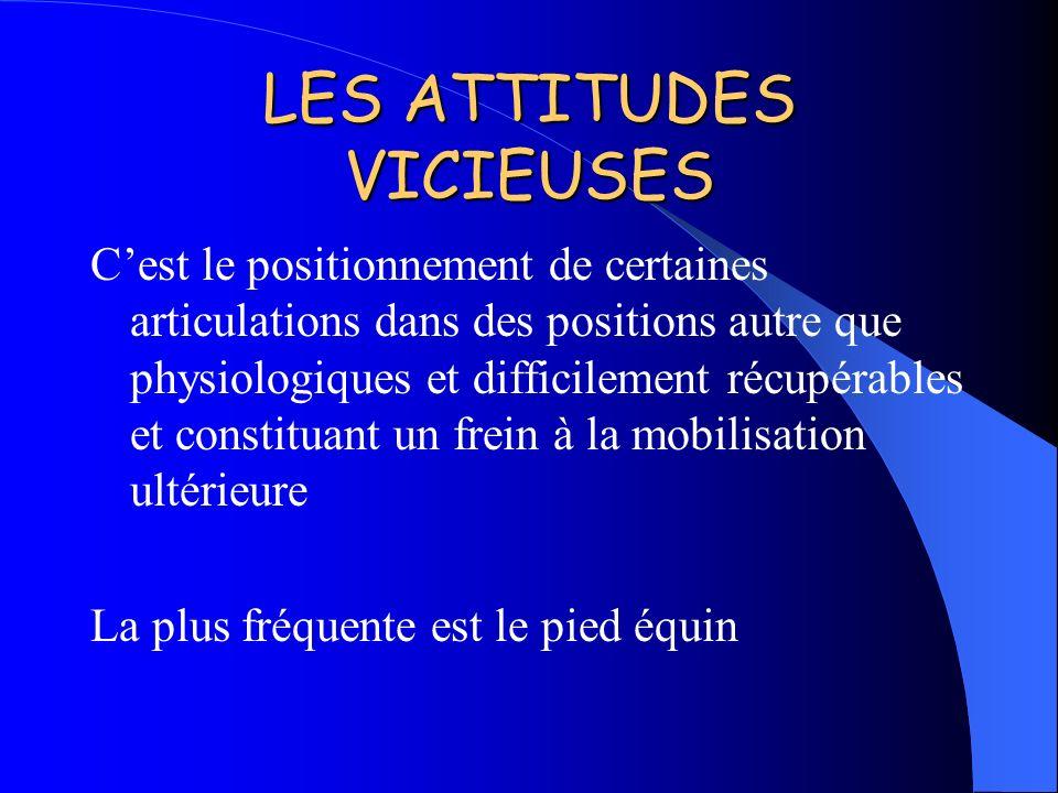 LES ATTITUDES VICIEUSES