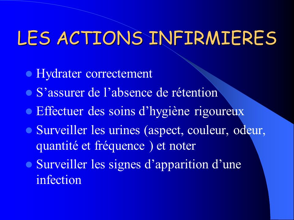 LES ACTIONS INFIRMIERES
