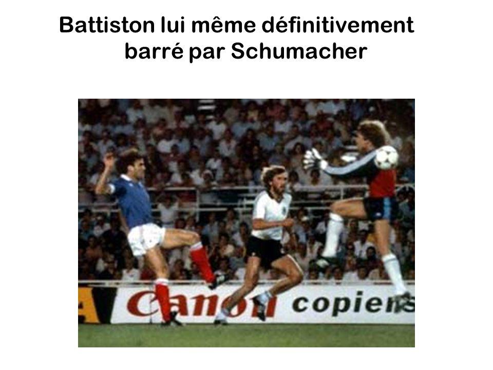 Battiston lui même définitivement barré par Schumacher