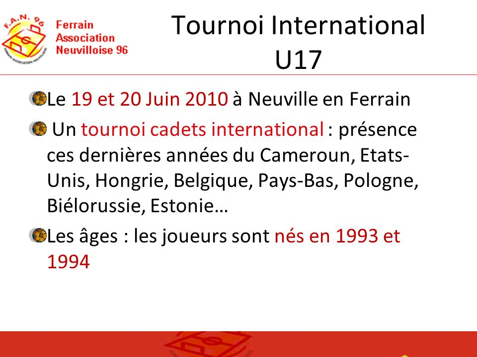 Tournoi International U17