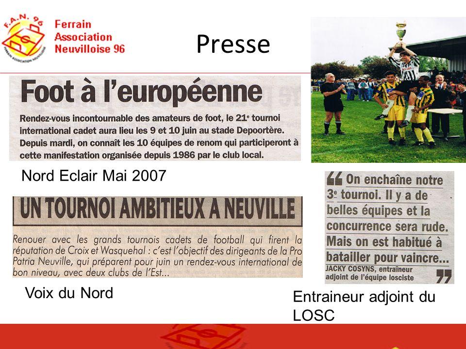 Presse Nord Eclair Mai 2007 Voix du Nord Entraineur adjoint du LOSC