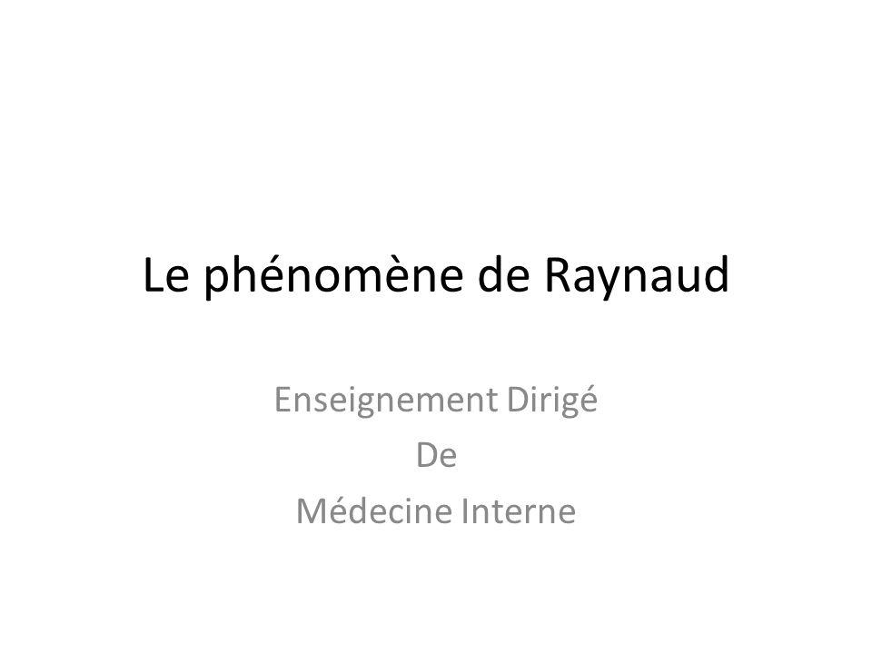 Le phénomène de Raynaud