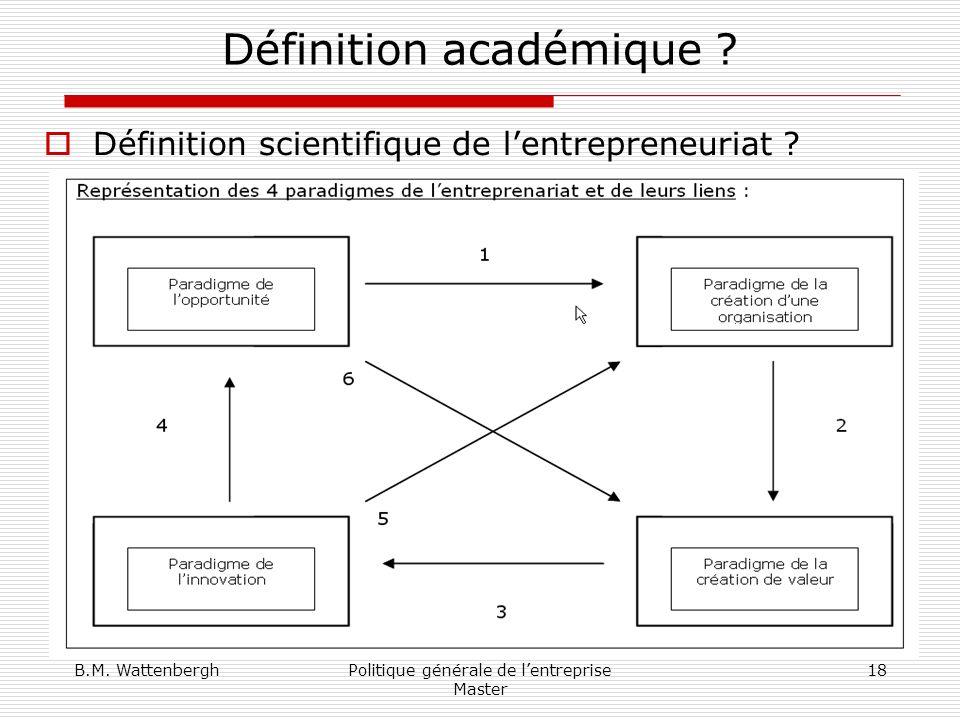 Définition académique