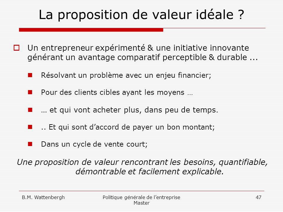 La proposition de valeur idéale