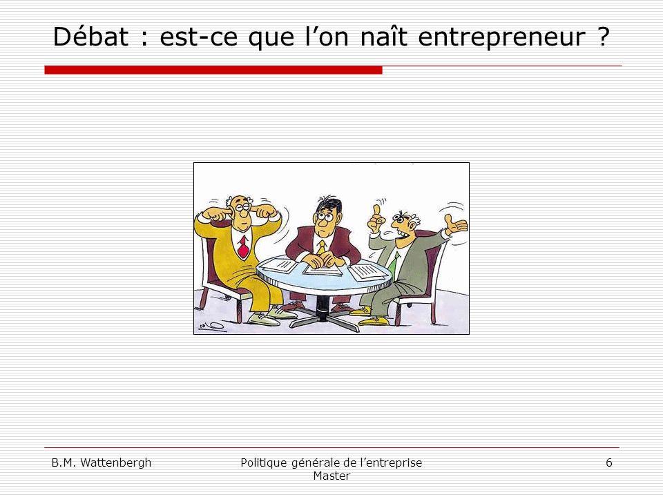 Débat : est-ce que l'on naît entrepreneur