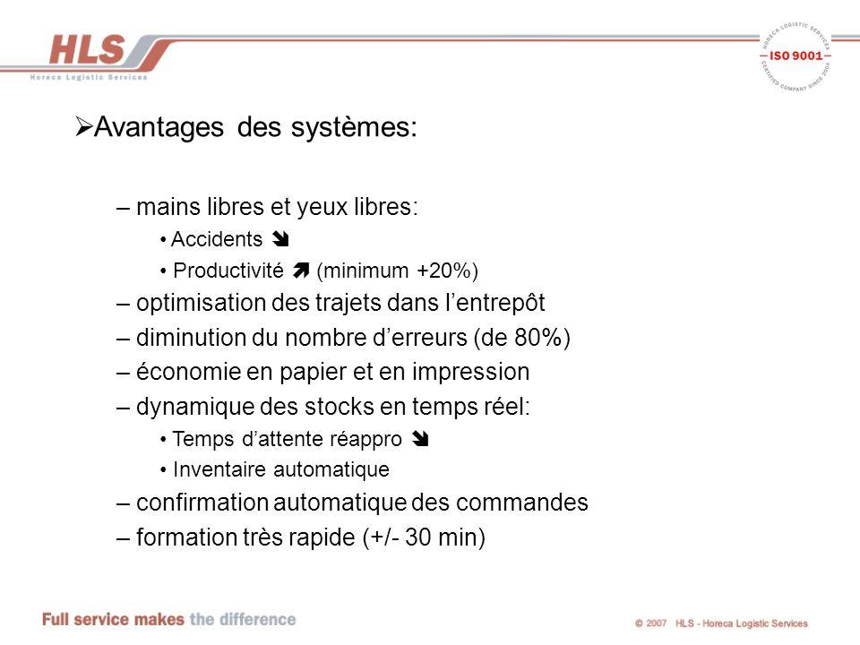 Avantages des systèmes: