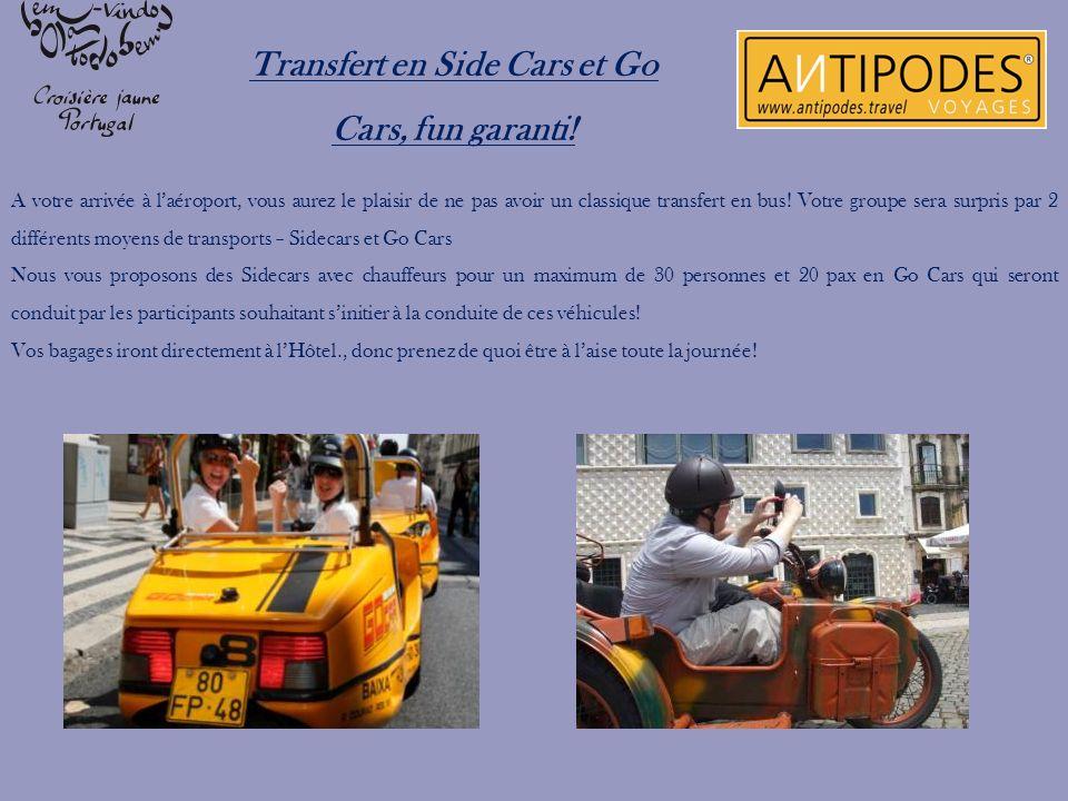 Transfert en Side Cars et Go Cars, fun garanti!