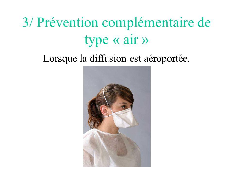 3/ Prévention complémentaire de type « air »