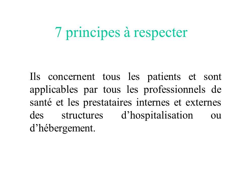 7 principes à respecter