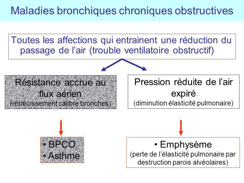 Maladies bronchiques chroniques obstructives