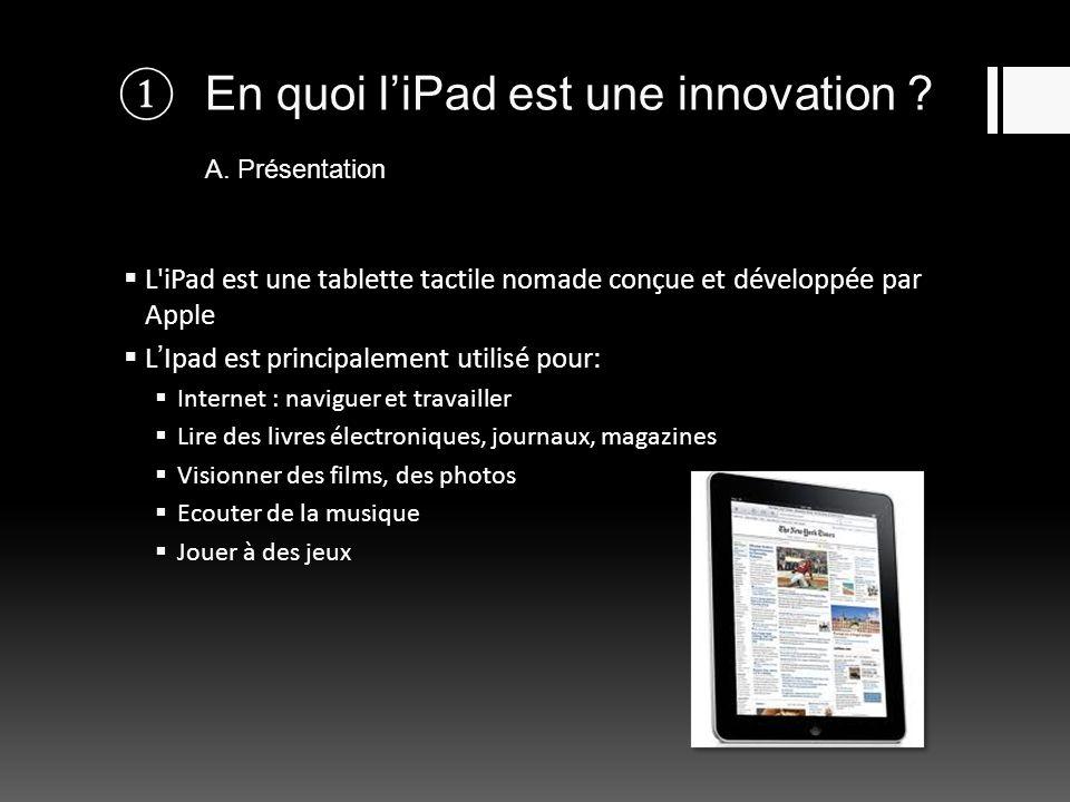 En quoi l'iPad est une innovation A. Présentation