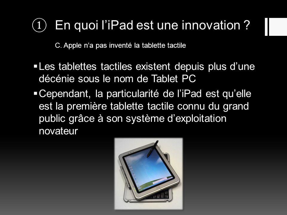 En quoi l'iPad est une innovation. C