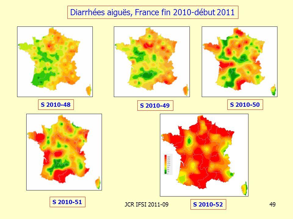 Diarrhées aiguës, France fin 2010-début 2011