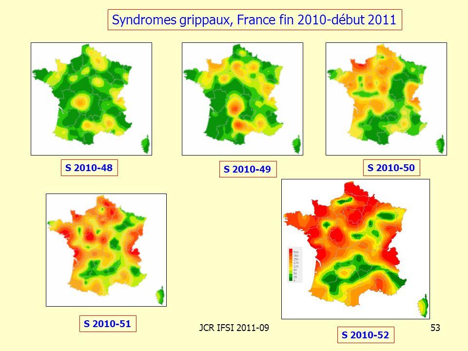 Syndromes grippaux, France fin 2010-début 2011