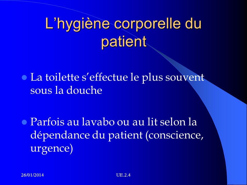 L'hygiène corporelle du patient
