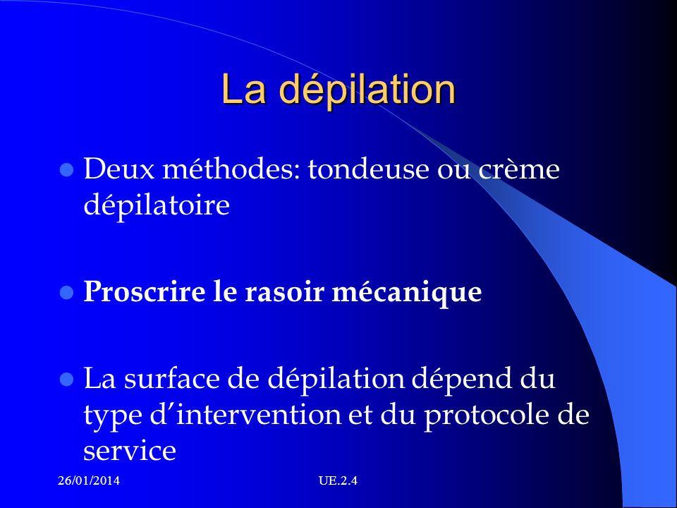 La dépilation Deux méthodes: tondeuse ou crème dépilatoire