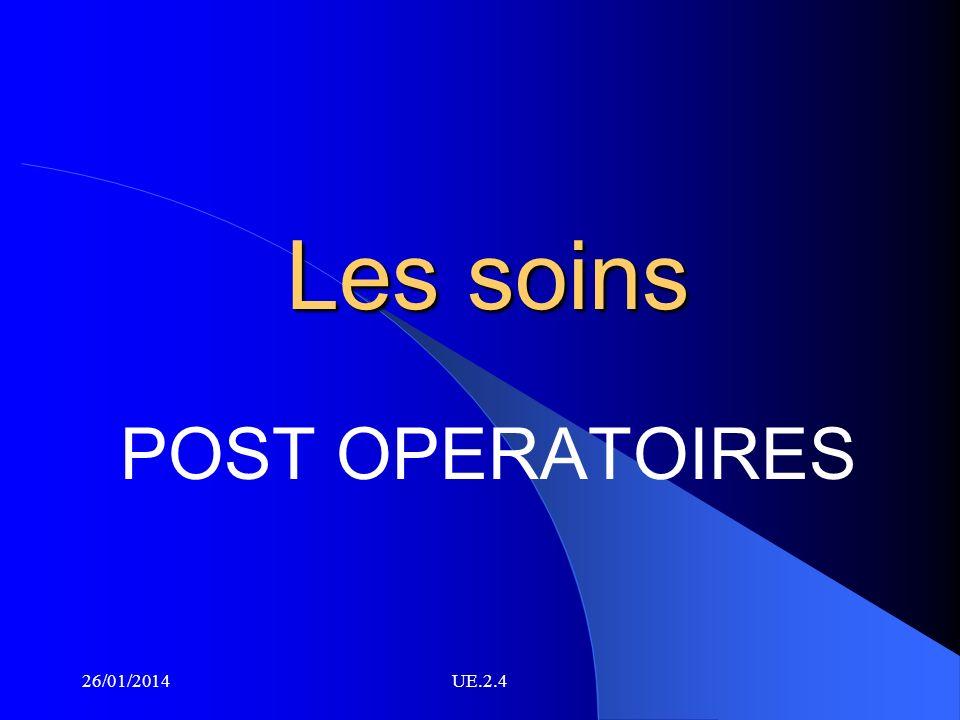 Les soins POST OPERATOIRES 26/03/2017 UE.2.4