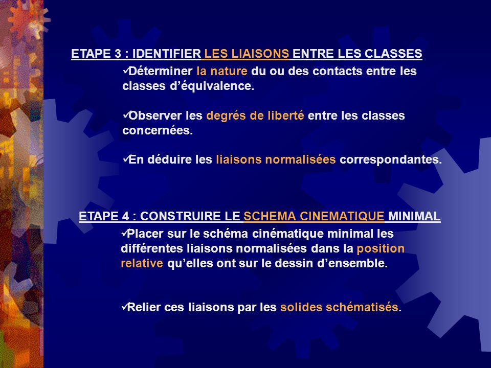 ETAPE 3 : IDENTIFIER LES LIAISONS ENTRE LES CLASSES