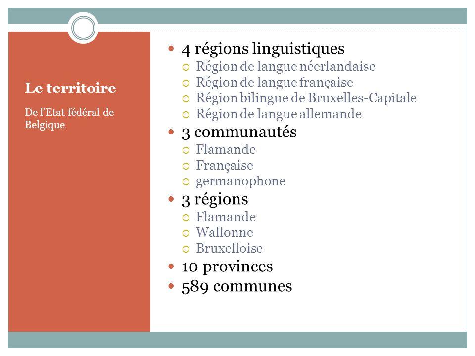 4 régions linguistiques