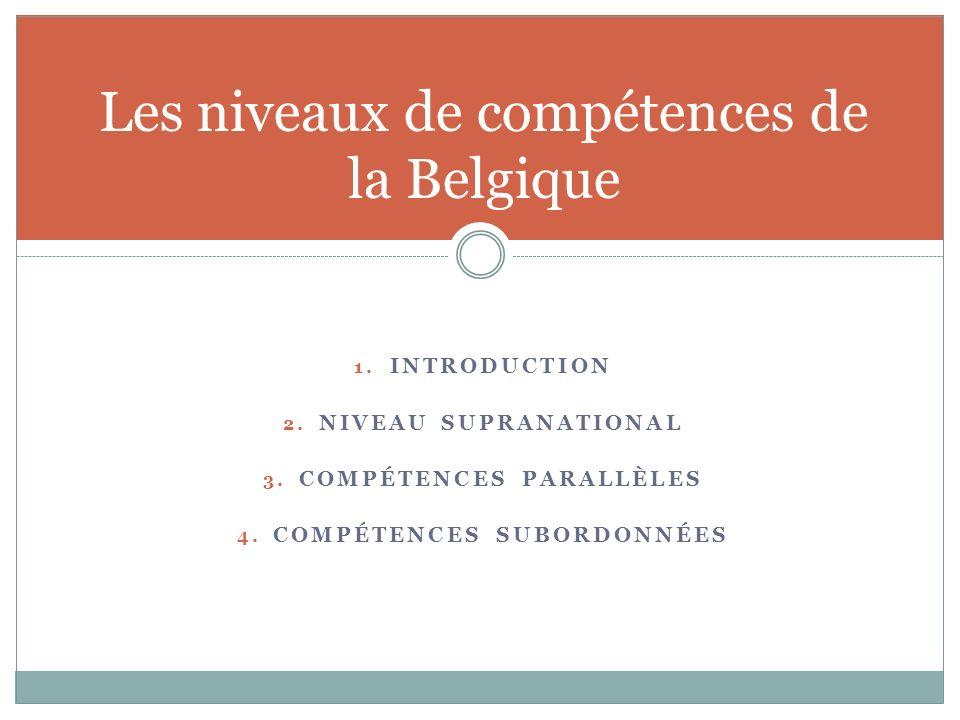 Les niveaux de compétences de la Belgique