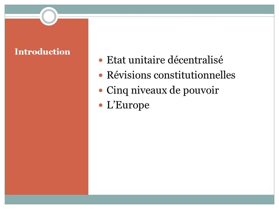 Etat unitaire décentralisé Révisions constitutionnelles
