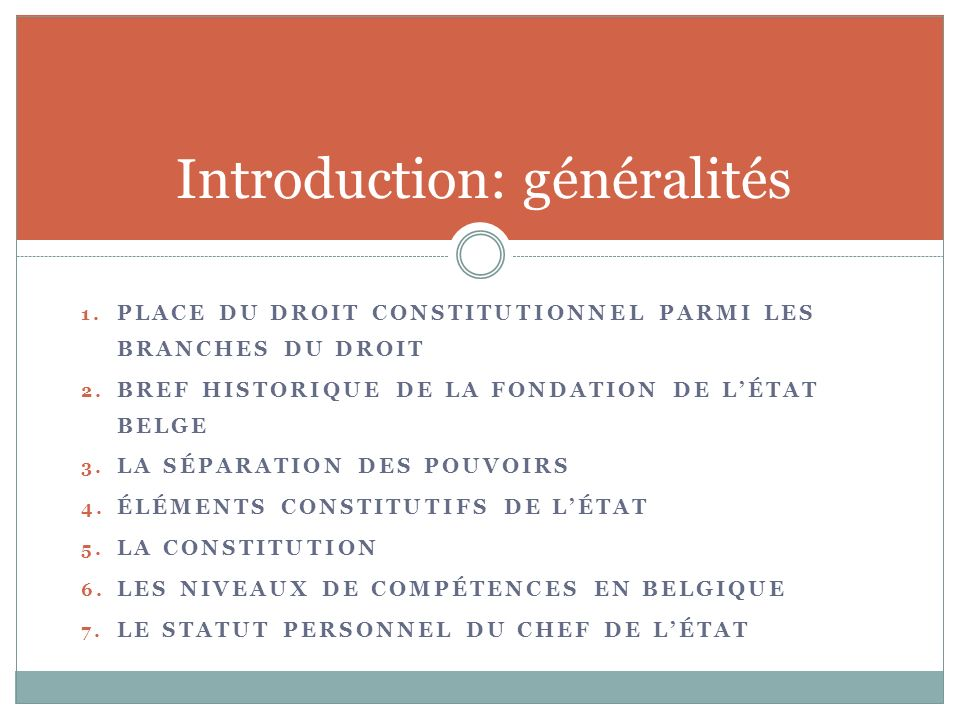 Introduction: généralités